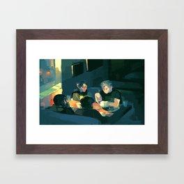 Jude, Willem, Malcolm and JB Framed Art Print