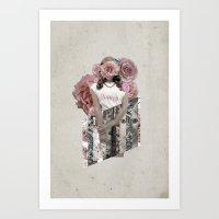 lana del rey Art Prints featuring Flower Del Rey by Alyssa Leary