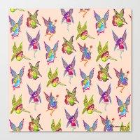 fairies Canvas Prints featuring Fairies by Elizabeth Kate
