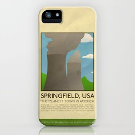 Silver Screen Tourism: SPRINGFIELD, USA / THE SIMPSONS iPhone Case