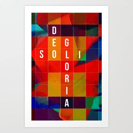 blocks in bloom-sdg Art Print
