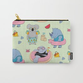 Beach animals - green Carry-All Pouch