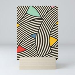 Modern Scandinavian Multi Colour Color Curve Graphic Mini Art Print