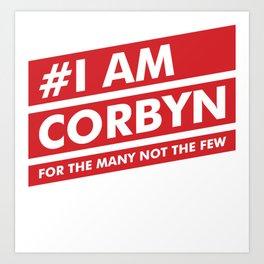 I Am Corbyn Art Print