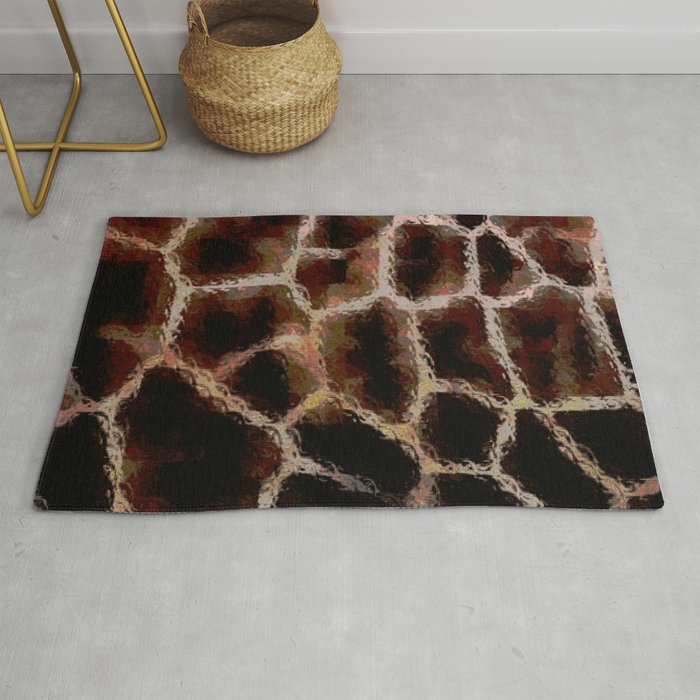 Brown Animal Print Rug By Lmglenn