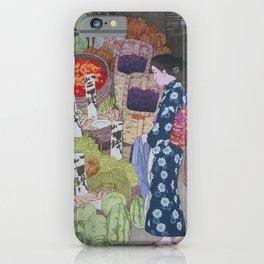 Yoshida Hiroshi - Nezu Honest Vegetable Store - Digital Remastered Edition iPhone Case