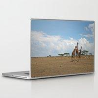 giraffes Laptop & iPad Skins featuring Giraffes by wendygray