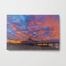 Sunrise Over Newport Lifeguard HQ Metal Print