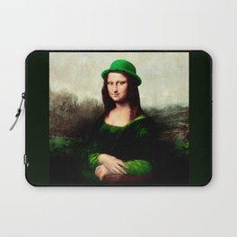 Lucky Mona Lisa - St Patrick's Day Laptop Sleeve