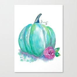 Aqua Pumpkin Canvas Print