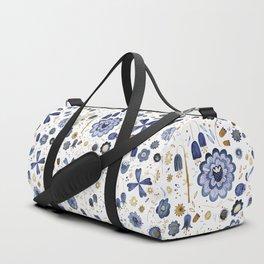 Indigo Flower Mashup Duffle Bag