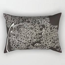 Tree Eyes Rectangular Pillow
