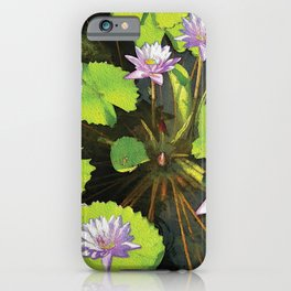 Water Lilies FTBG op iPhone Case