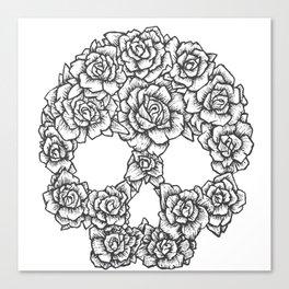Skull of Roses Canvas Print