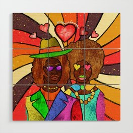 70's Love Wood Wall Art