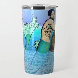 Melancholy Merman Travel Mug