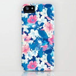Bloom Blue iPhone Case