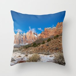 Zion Winter - 4724 Panorama Throw Pillow