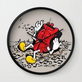 Musical Heart Illustratiom Wall Clock