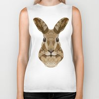 hare Biker Tanks featuring Ornate Hare by ArtLovePassion