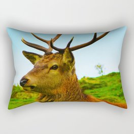The Stag on the hill Rectangular Pillow