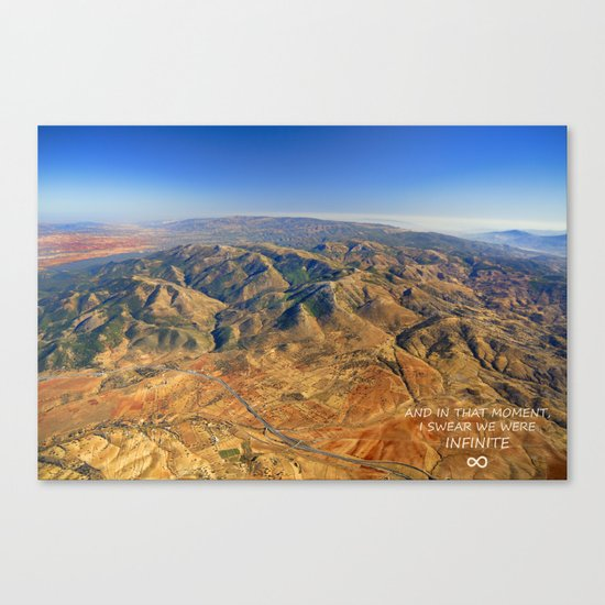 And in that moment, I swear we were infinite ∞. Aerial photo Canvas Print
