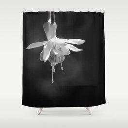 Fuschia in Black and White Shower Curtain