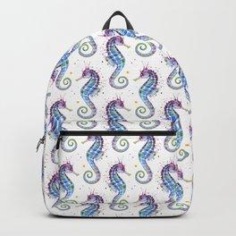 Seahorse: Purple Backpack