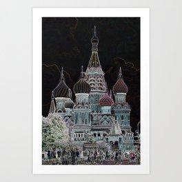St. Basil's Cathedral v Art Print