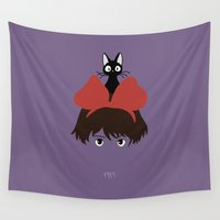 1989 Wall Tapestries featuring Kiki, 1989 by Jarvis Glasses