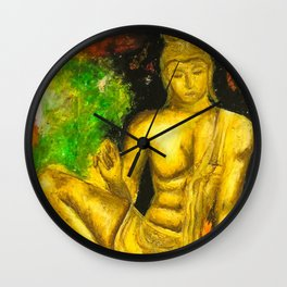 Sri Lankan Statue Wall Clock
