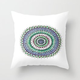 Unalome Madness Colored Throw Pillow