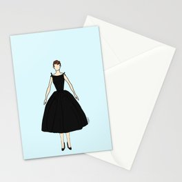 Audrey Vintage Retro Fashion 1 Stationery Cards