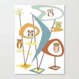 It's Owl Atomic Canvas Print