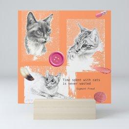 Cats and psychoanalysis Mini Art Print