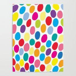 Colour Spots White Poster