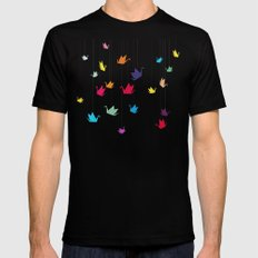 Origami cranes Black Mens Fitted Tee MEDIUM