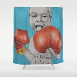 The Resiliant Fighter Shower Curtain