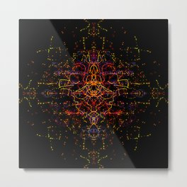 Neuro Network Metal Print
