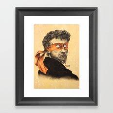 Mikey TMNT Framed Art Print