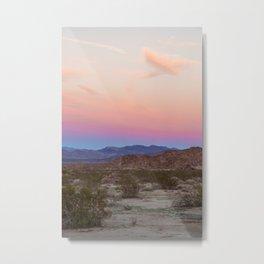 Sunset at Joshua Tree Metal Print