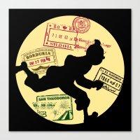 tintin Canvas Prints featuring Run Tintin, Run by ikado
