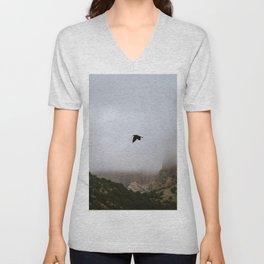 Free as a bird flying through the mountains, Big Bend - Landscape Photography Unisex V-Neck