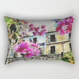 Vintage street in calabria Rectangular Pillow