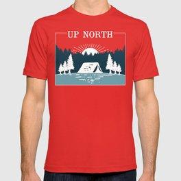 UP NORTH, camping T-shirt