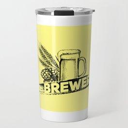 Brewer Hop Malt Beer II - Drinking Beer Gift Travel Mug