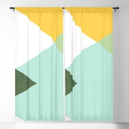 Geometrics - citrus & concrete Blackout Curtain