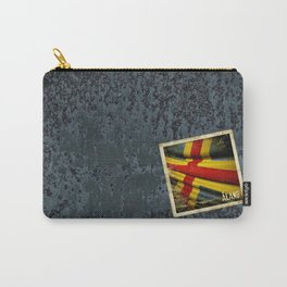 Grunge sticker of Aland Islands flag Carry-All Pouch