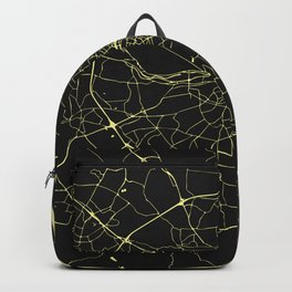 Dublin Street Map Black and Yellow Backpack