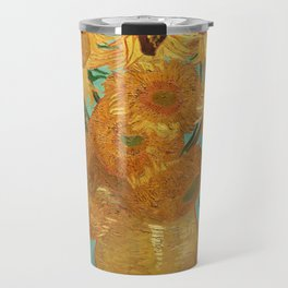 Vincent Van Gogh Twelve Sunflowers In A Vase Travel Mug